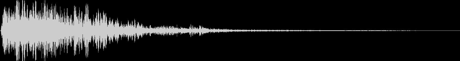 SFX爆発音02の未再生の波形