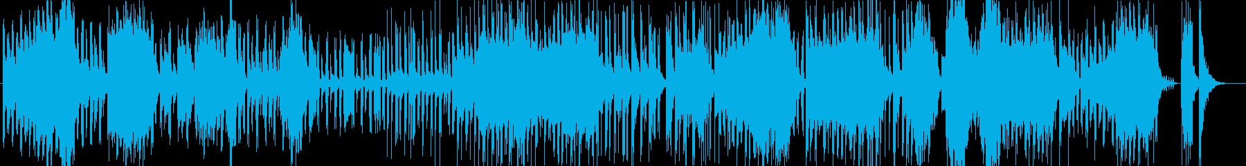 小気味好いリズムで明るく可愛いポップな曲の再生済みの波形