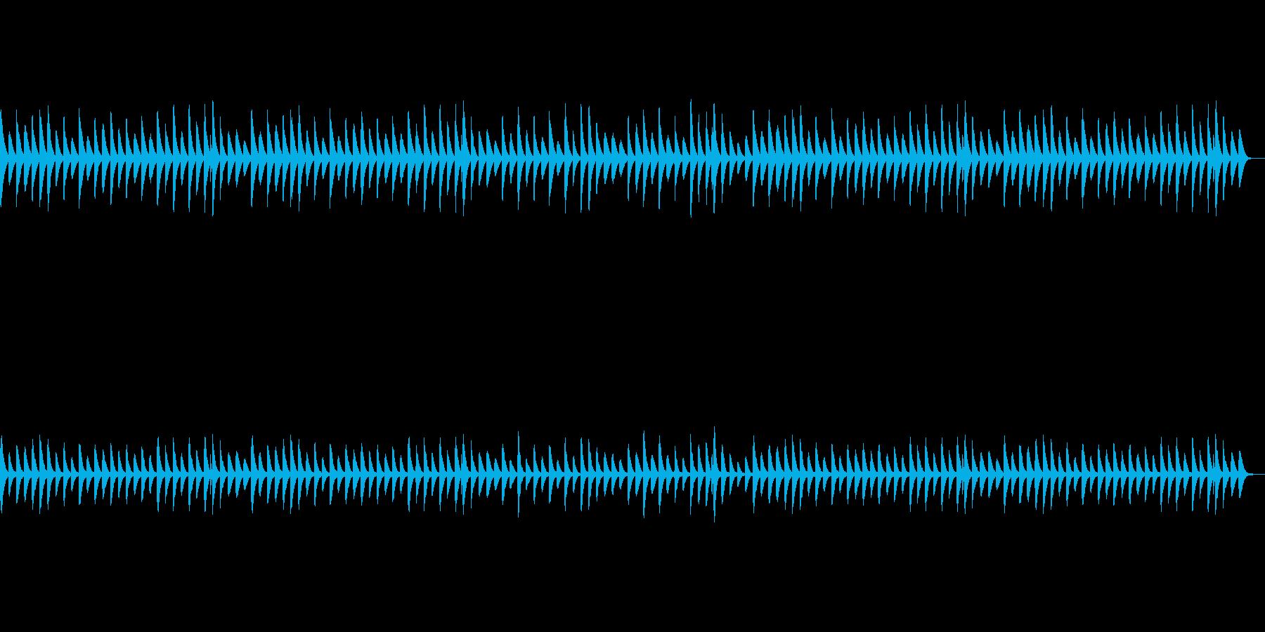 可愛らしいほのぼのとした木琴BGMの再生済みの波形
