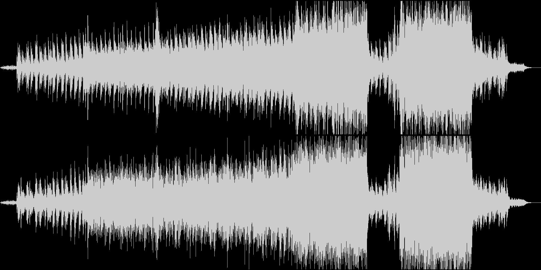 ピアノとストリングスの映像的な曲の未再生の波形
