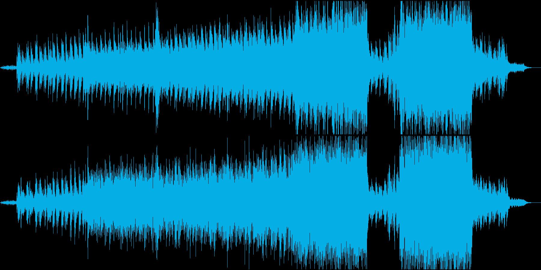 ピアノとストリングスの映像的な曲の再生済みの波形