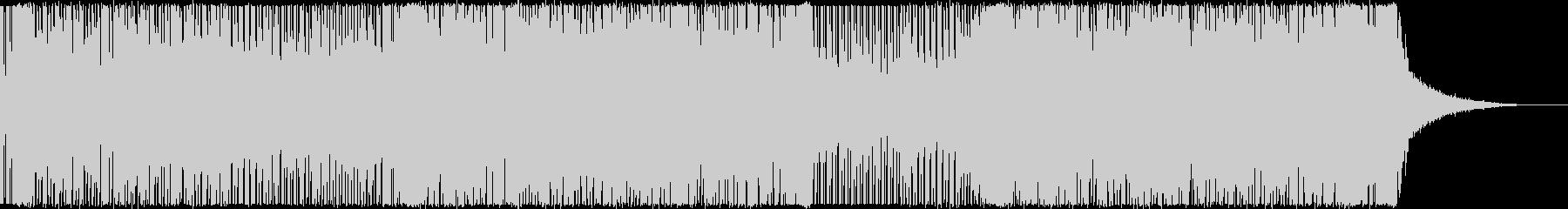 バトル風4つ打ちテクノミュージックの未再生の波形