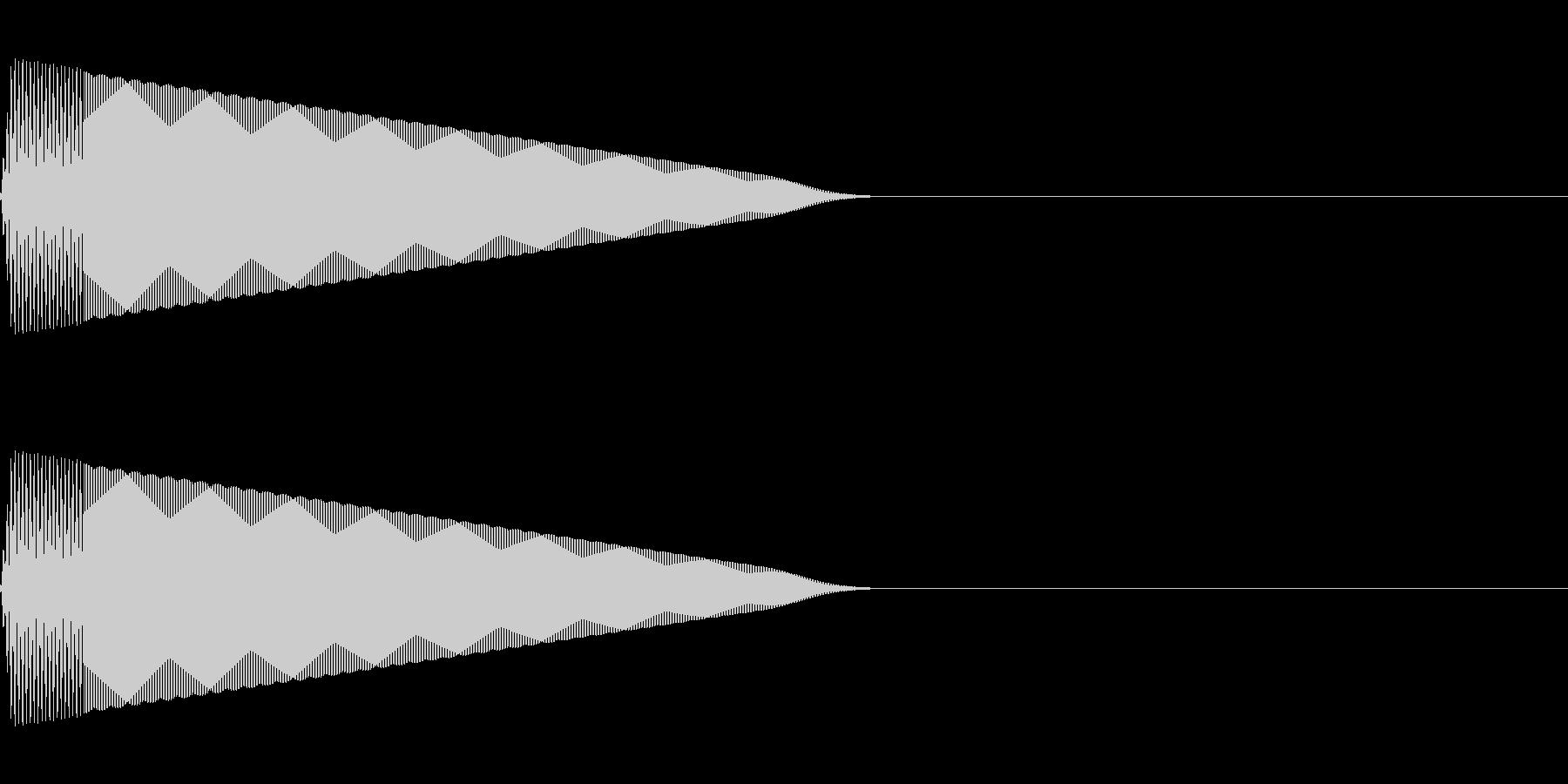 ポーン(決定/選択/かわいい/ピコピコ音の未再生の波形