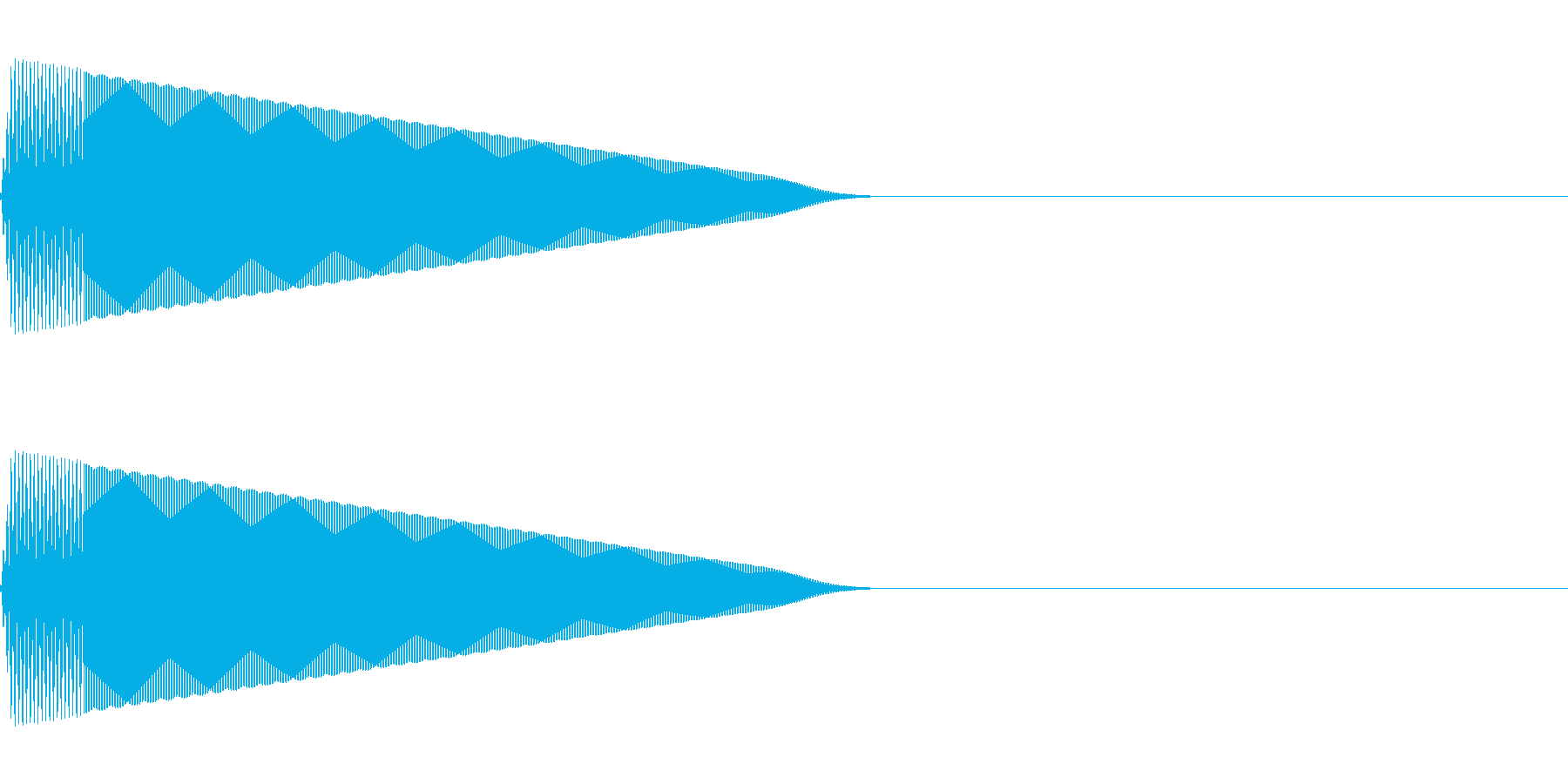 ポーン(決定/選択/かわいい/ピコピコ音の再生済みの波形