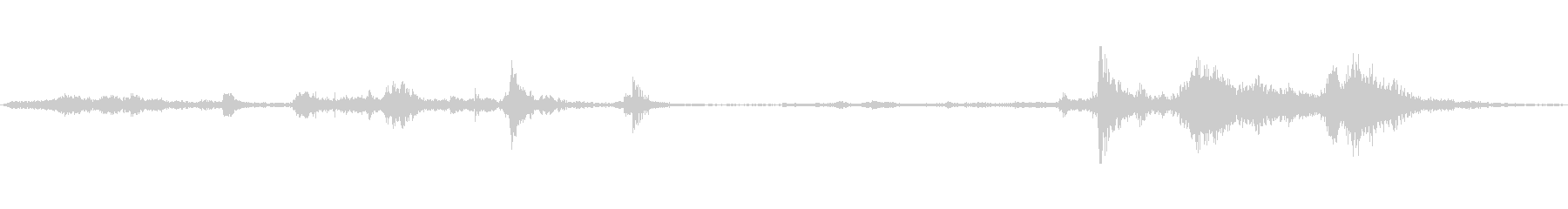 ドアメタルゲートロールスクイークの未再生の波形