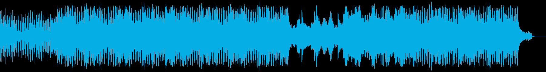 クールな雰囲気のテクノの再生済みの波形