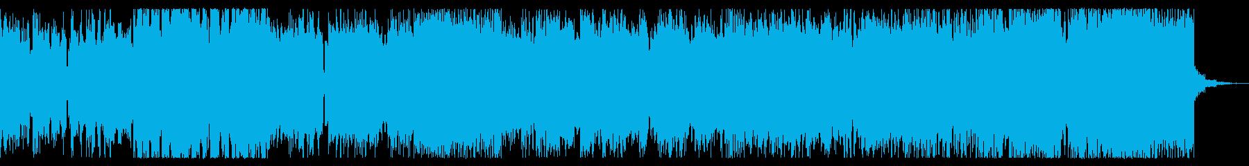 勇壮な疾走系チップチューンの再生済みの波形