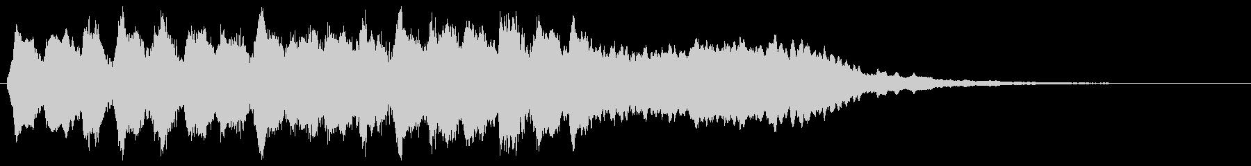 バイオリンのクラシカルなフレーズの転回音の未再生の波形