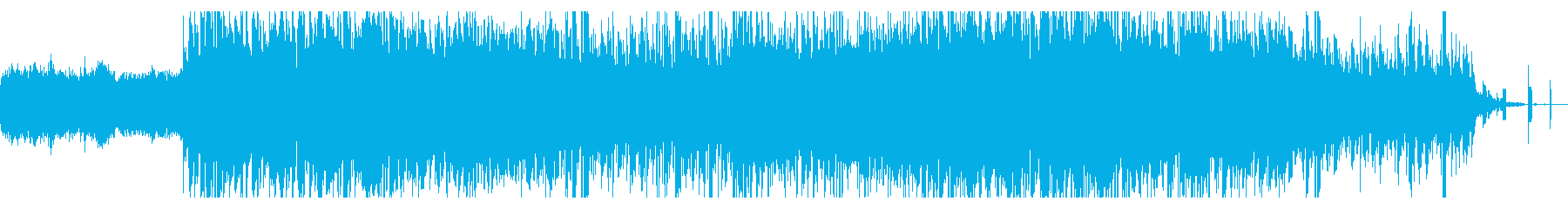 ロボティックでノイジーなIDMの再生済みの波形