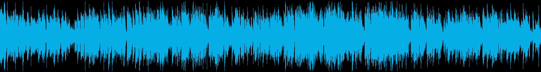気持ちの良いテンポのジャズ ※ループ版の再生済みの波形