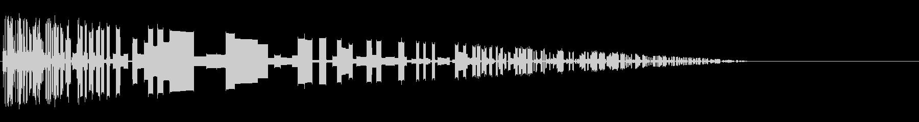 レトロゲーム風爆発音8の未再生の波形