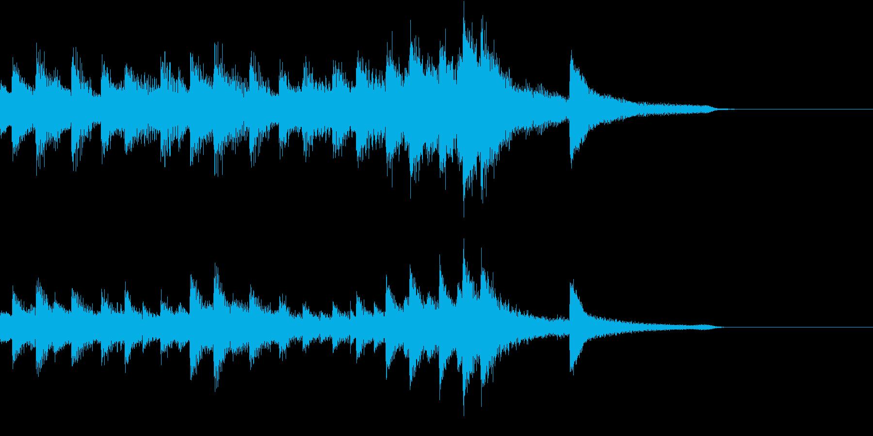 コードメインの4分の5拍子ピアノジングルの再生済みの波形
