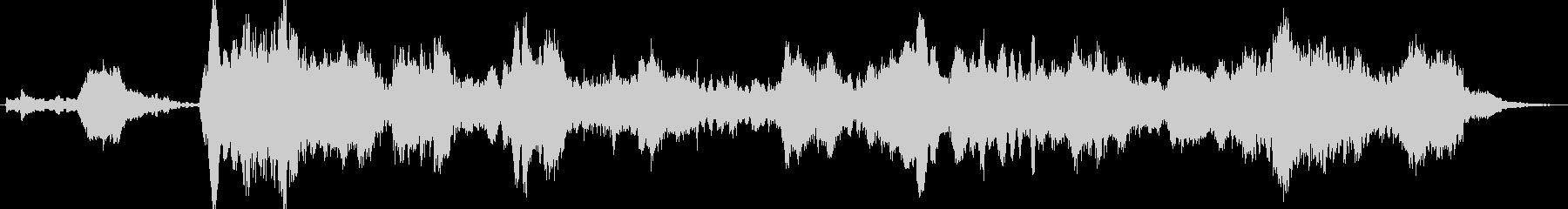暗く静かなシンセアンビエントBGMの未再生の波形
