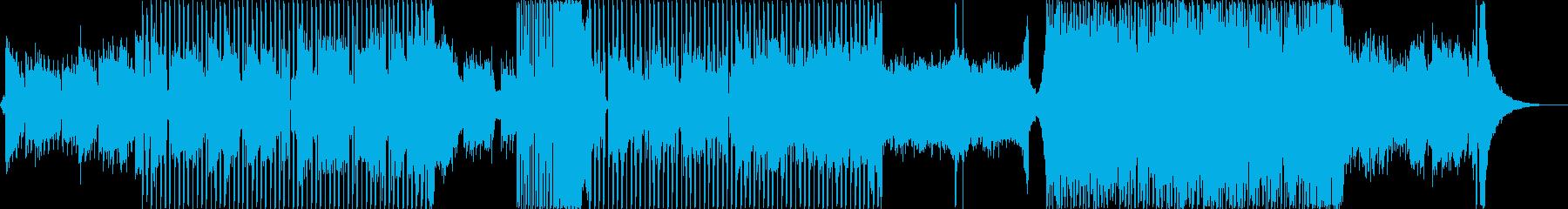 ダークでサイバーパンク・近未来的なBGMの再生済みの波形