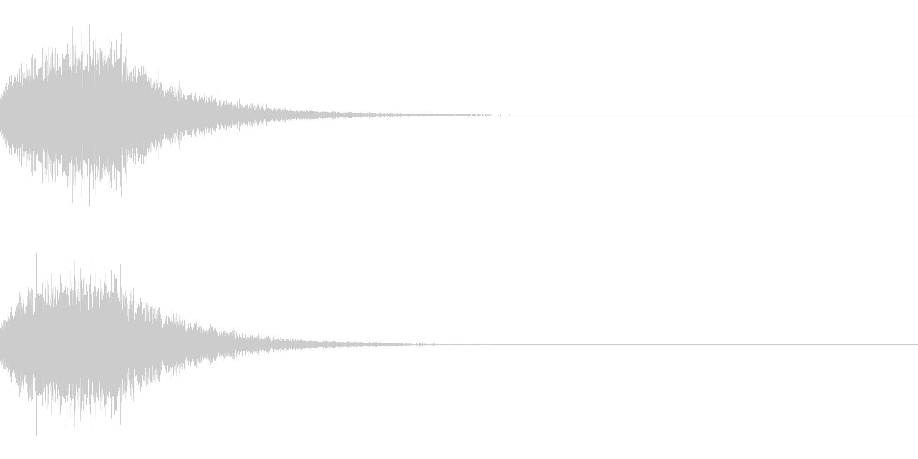 [IR]小規模ライブ空間の残響データ02の未再生の波形