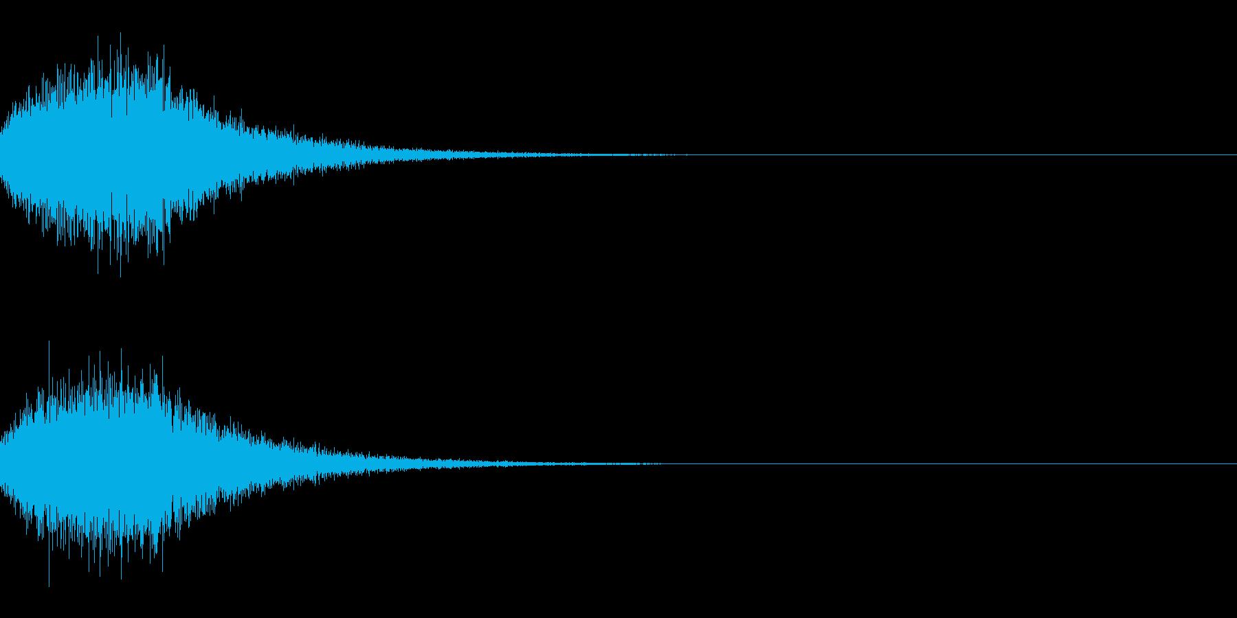 [IR]小規模ライブ空間の残響データ02の再生済みの波形