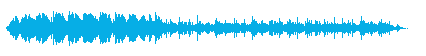 ホラー映画やサスペンス映画のようなBGMの再生済みの波形