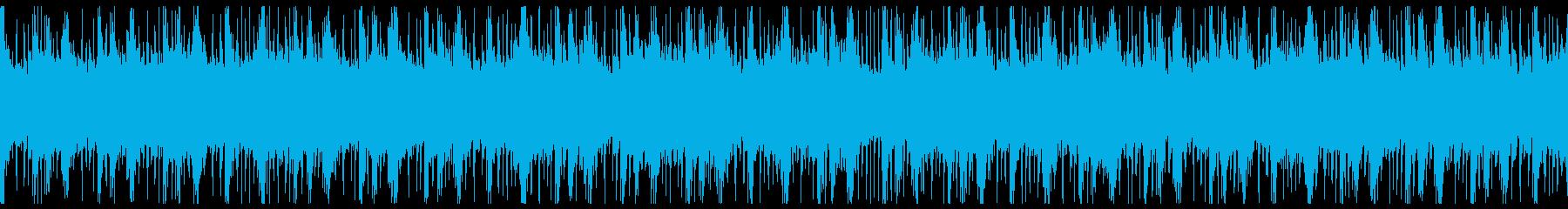 敵基地・陣地に潜入する時のBGMver4の再生済みの波形