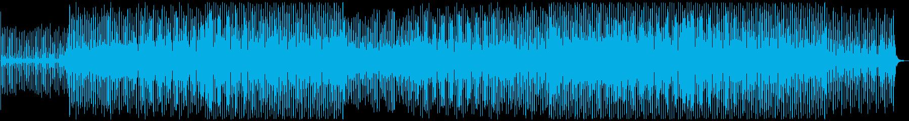 モダンでお洒落なデジタルハウストラックの再生済みの波形