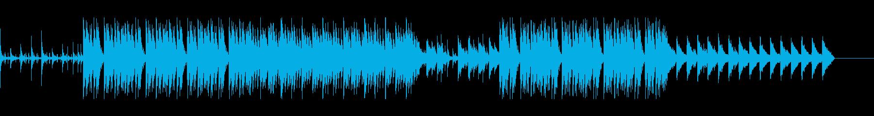 アングラなHIPHOP系BGMの再生済みの波形