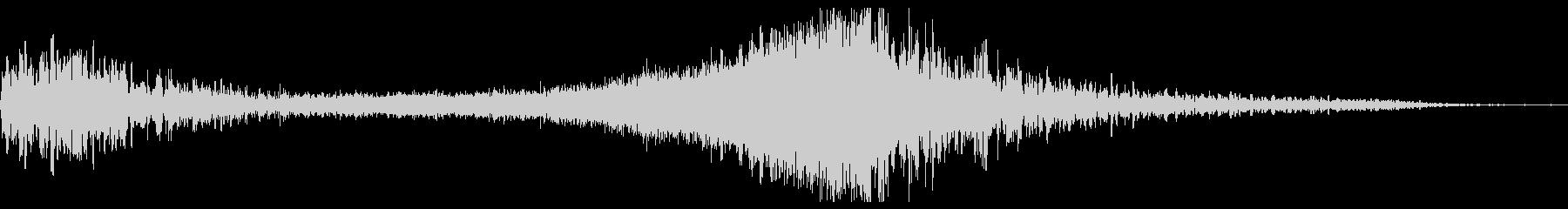 タイトル表記などの効果3の未再生の波形