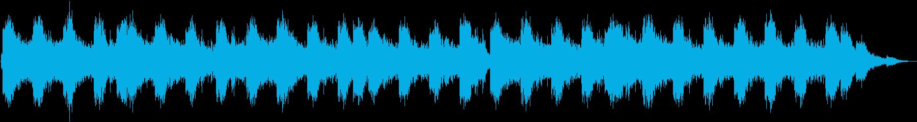 四つ打ちのシンセ系15秒BGMの再生済みの波形