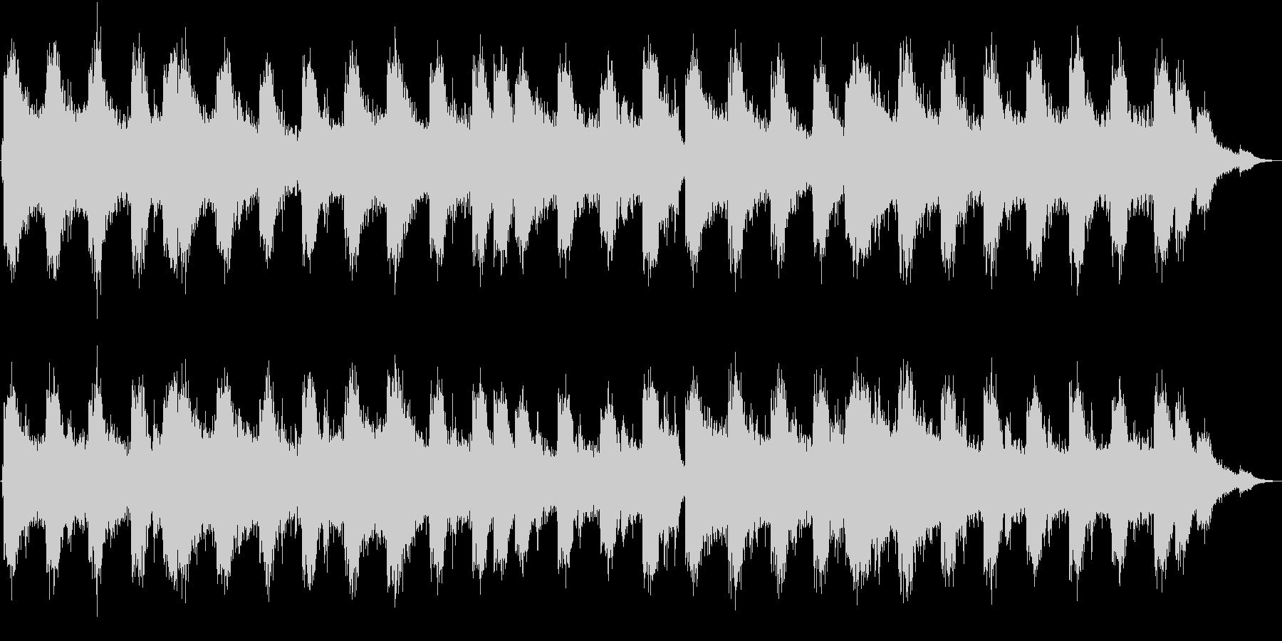四つ打ちのシンセ系15秒BGMの未再生の波形