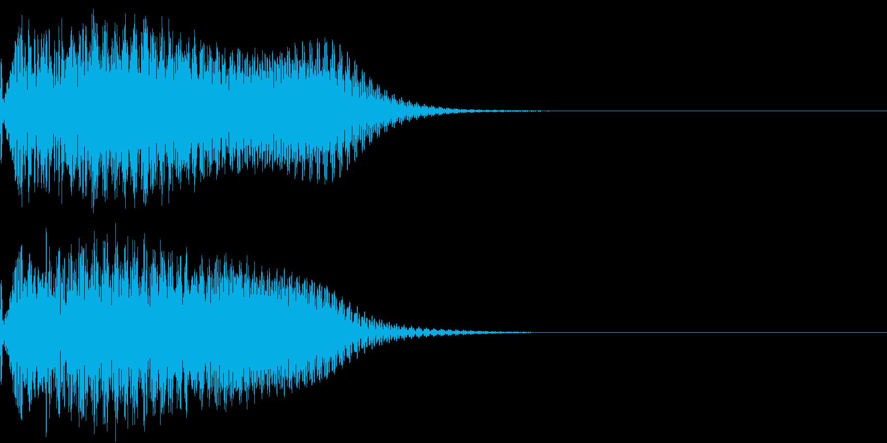 キュイン 光 ピカーン フラッシュ 09の再生済みの波形
