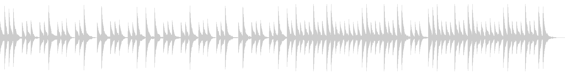 優しさを感じられるシンプルなBGMの未再生の波形