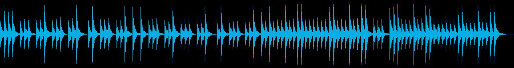 優しさを感じられるシンプルなBGMの再生済みの波形