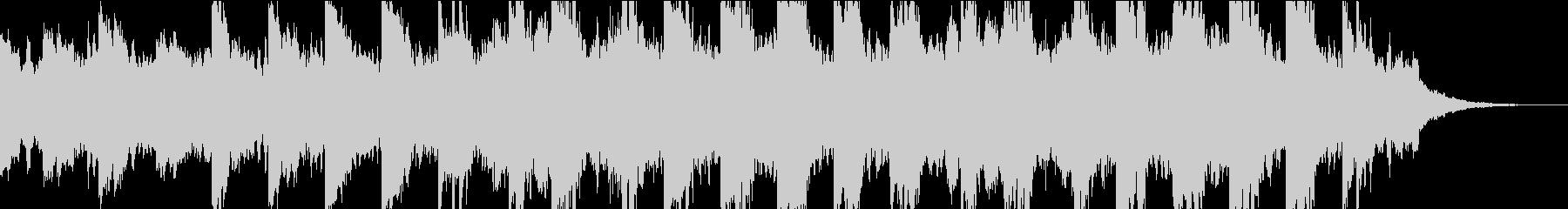 ダークなシンセと民族的雰囲気のBGMの未再生の波形