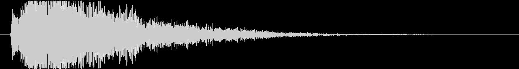 近未来的なレベルアップ効果音の未再生の波形