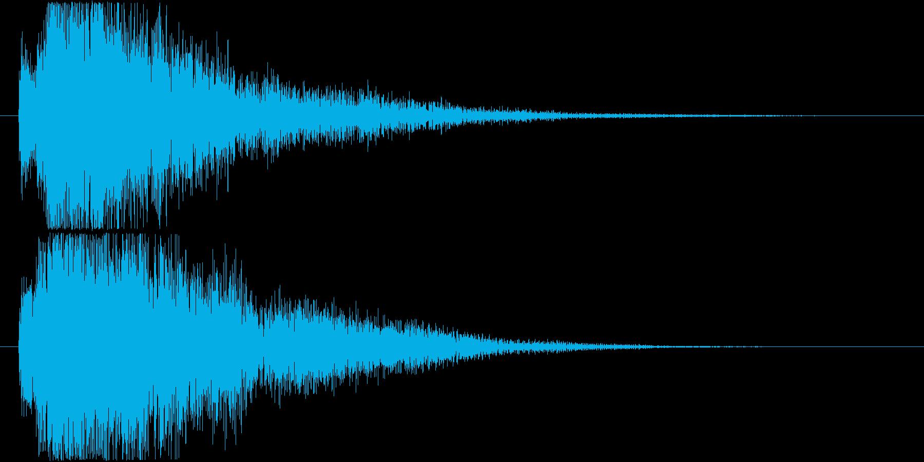 近未来的なレベルアップ効果音の再生済みの波形