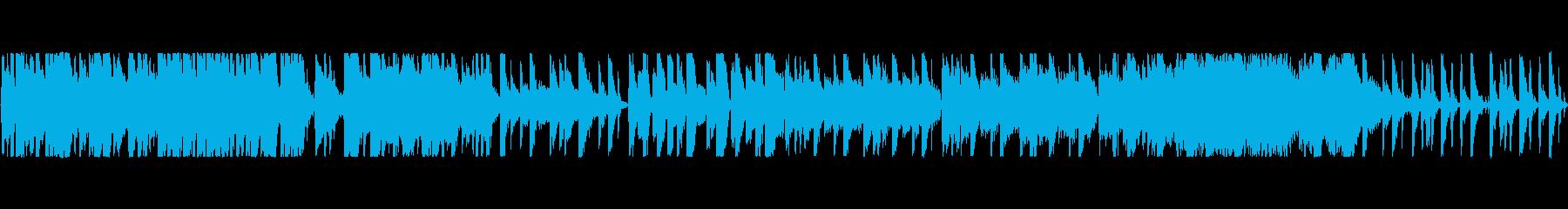 ポップ調の楽しい感じの曲の再生済みの波形
