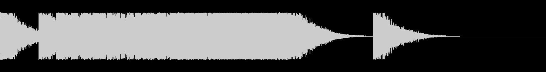 チャイナ、ゴング、速くなっていく鐘の未再生の波形