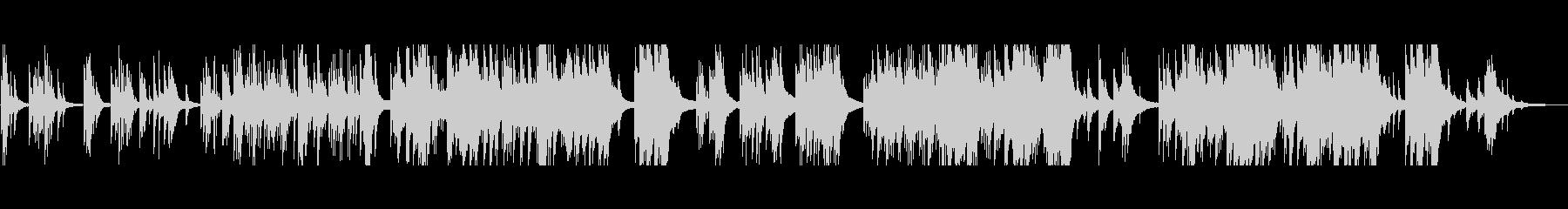 切ない美しいメロディ 生演奏のピアノソロの未再生の波形