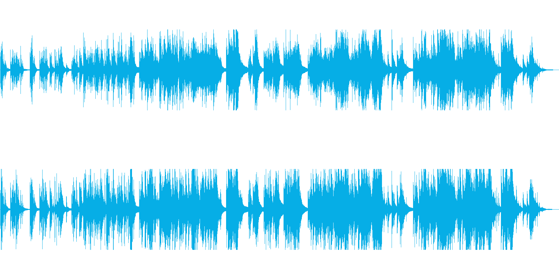 切ない美しいメロディ 生演奏のピアノソロの再生済みの波形