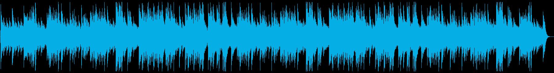 なめらかで癒されるオルゴールの再生済みの波形
