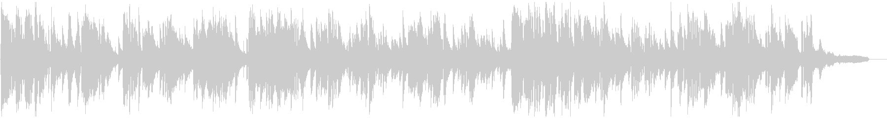 コメディ的なお色気シーンのエロいサックスの未再生の波形