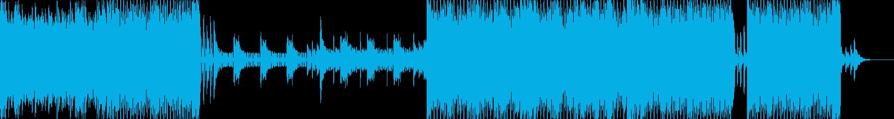 グルーヴ感のあるピアノ旋律が美しいテクノの再生済みの波形