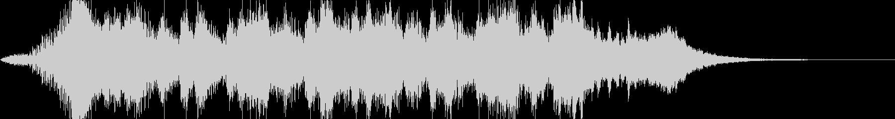 オーケストラ調、クリアジングルの未再生の波形