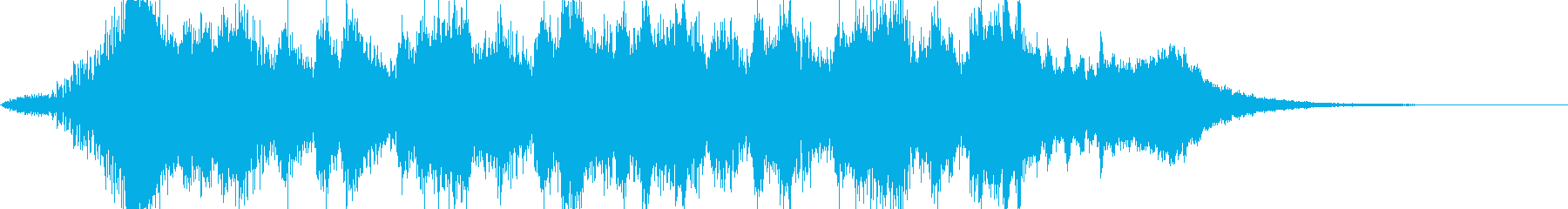 オーケストラ調、クリアジングルの再生済みの波形