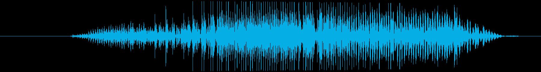 鳴き声 男性の痛みを伴う叫び09の再生済みの波形