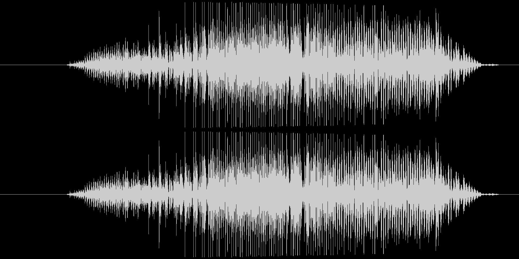 鳴き声 男性の痛みを伴う叫び09の未再生の波形