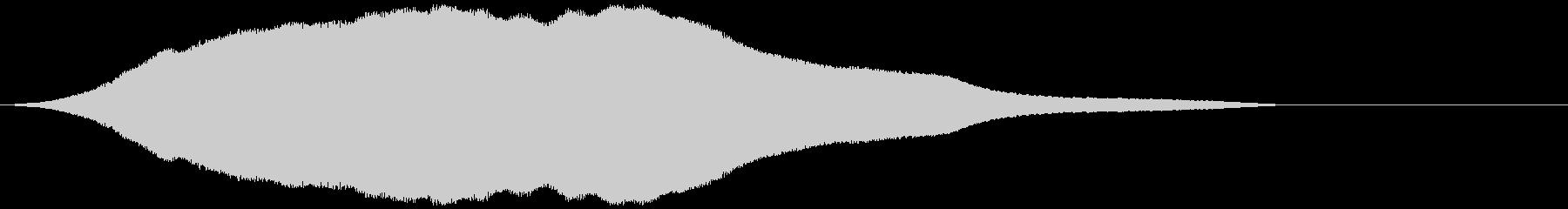耳障りなハウリング音(フォーン)の未再生の波形