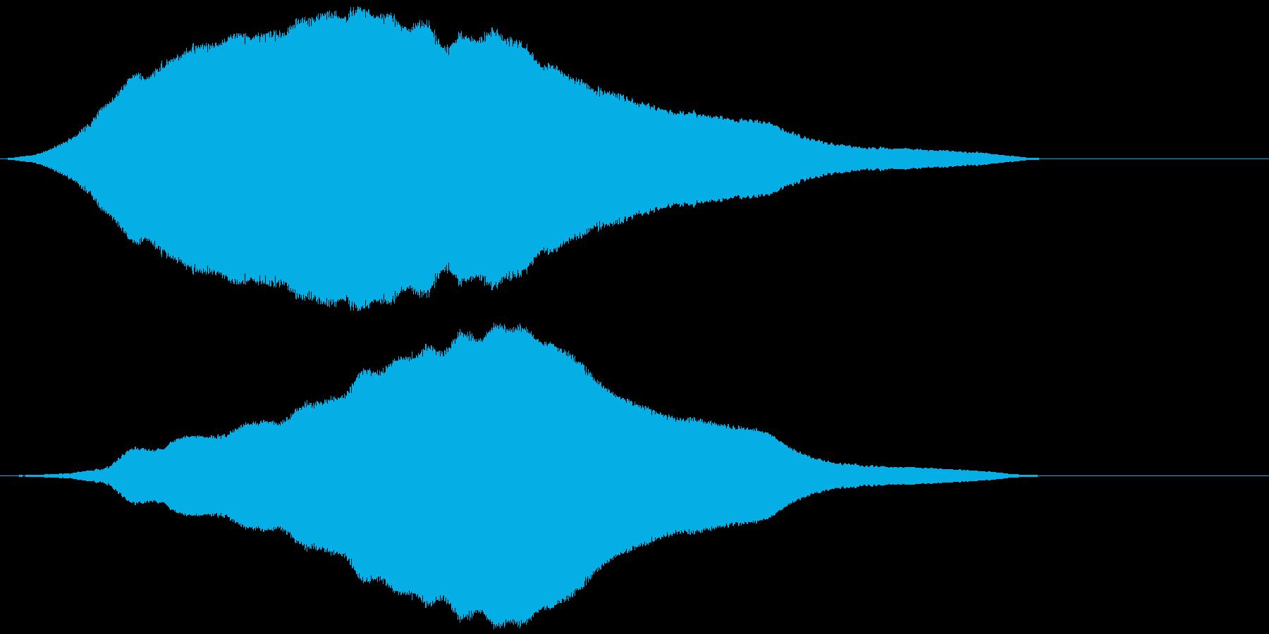 耳障りなハウリング音(フォーン)の再生済みの波形