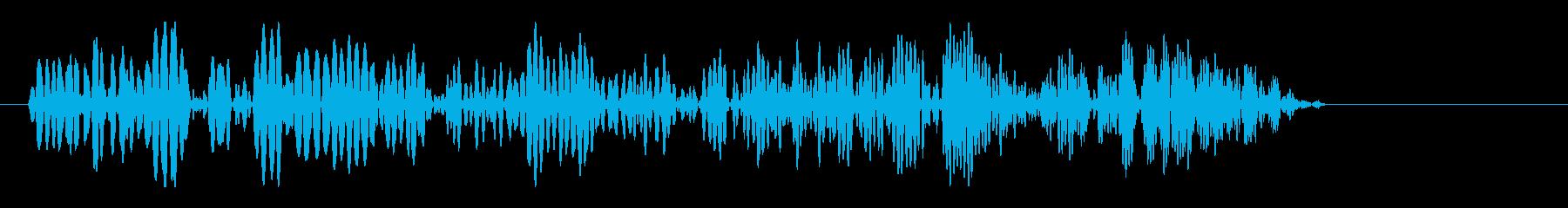 何かが出てくるゲーム音の再生済みの波形