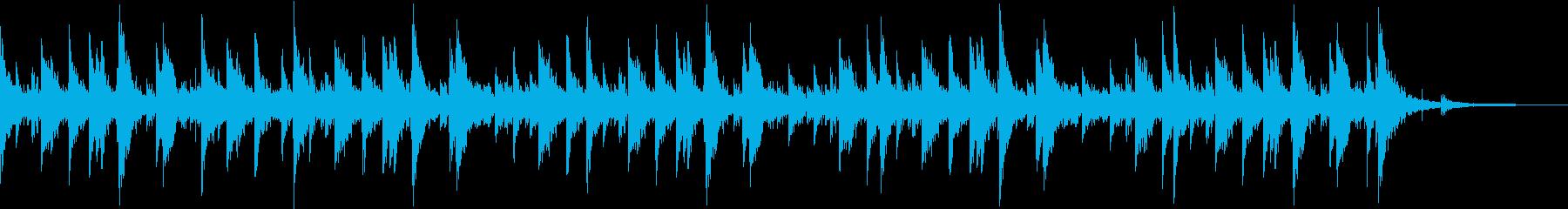 和太鼓の乱打 ランダムドラムロールの再生済みの波形