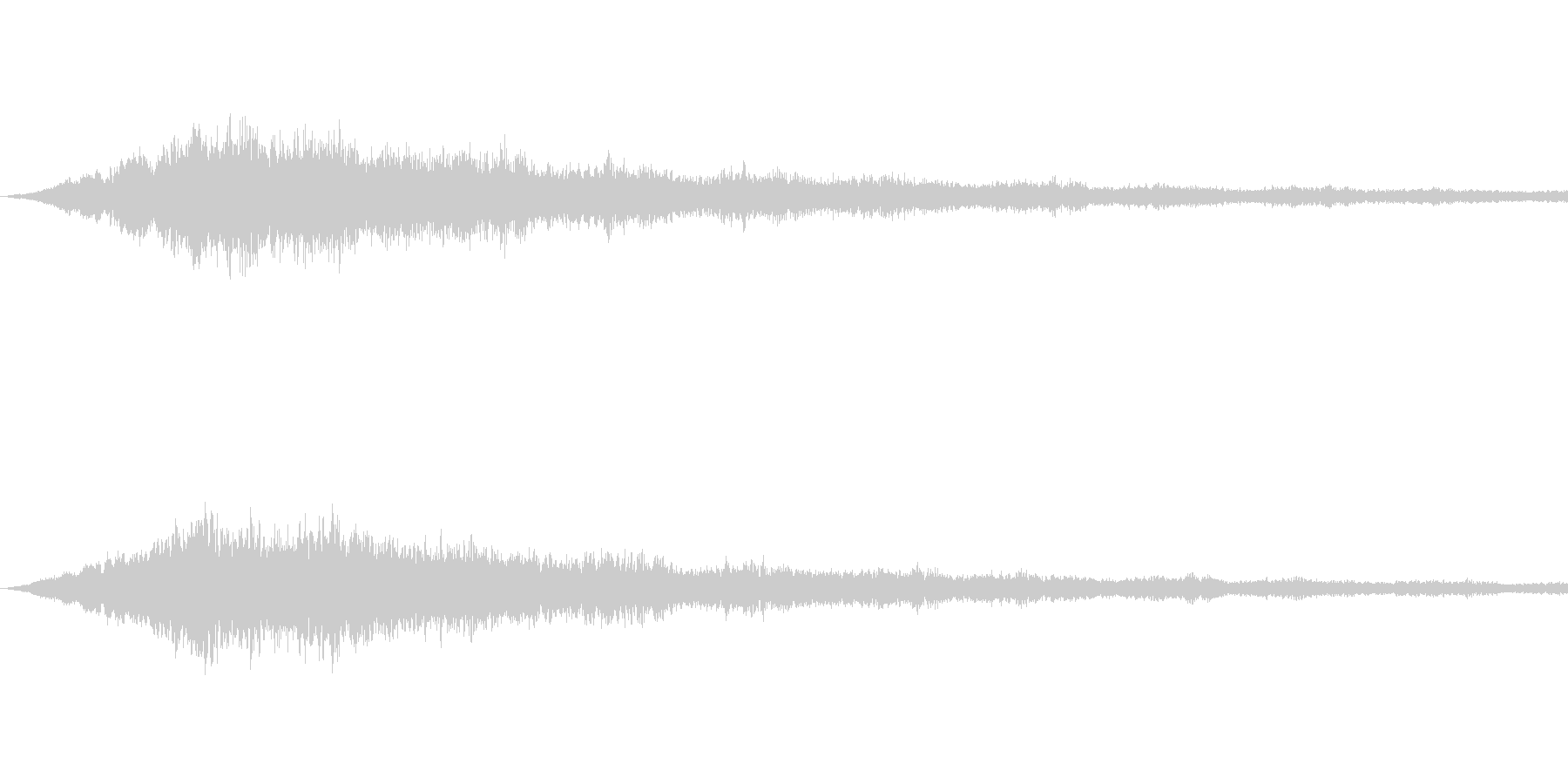 SFっぽい音その4です。「カララララー…の未再生の波形