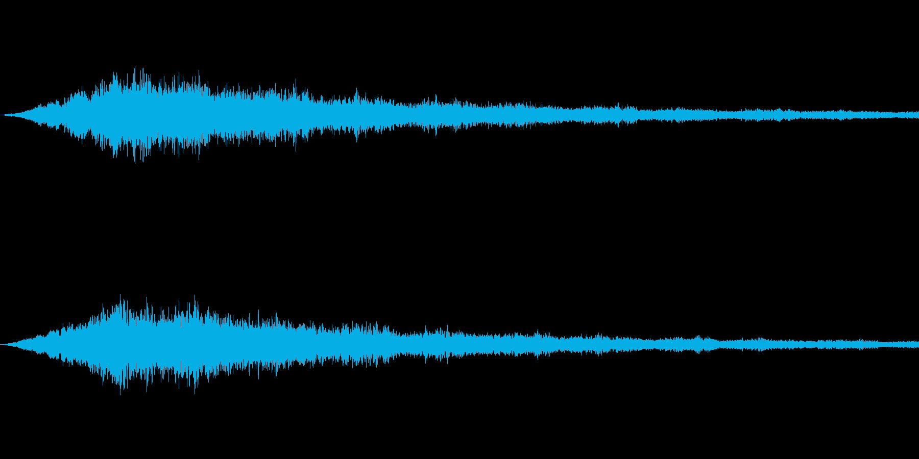 SFっぽい音その4です。「カララララー…の再生済みの波形